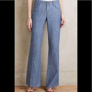 Level 99 Newport Wide Leg Light Jean/Chambray pant